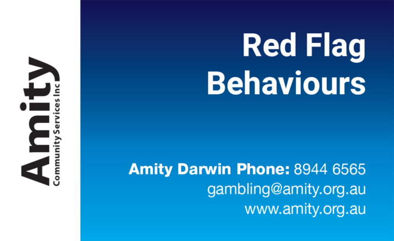 Gambling Red Fag Behaviours Business Cards_Front
