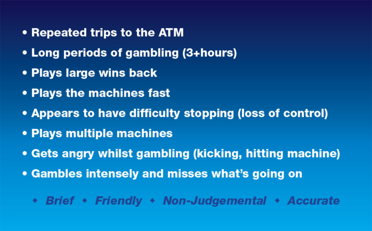 Gambling Red Fag Behaviours Business Cards_Back
